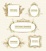 collection of vintage frame