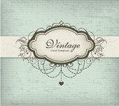 Design de cartão vintage