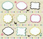 scrapbook elements. various shape of note papers