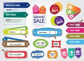 vector set of price tags & web elements