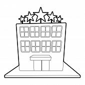 Hotel Five Stars Icon. Outline Illustration Of Hotel Five Stars Icon For Web poster
