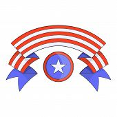 Independence Day Band Icon. Cartoon Illustration Of Independence Day Band Icon For Web Design poster