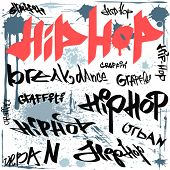 graffiti hip hop vector fondo urbano