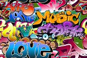 picture of rap  - Graffiti urban wall background - JPG
