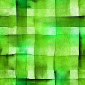 An Abstract Watercolor Texture With Vibrant Green Squares, Seamless Background Pattern poster