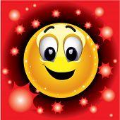 Bola sorridente como famoso superstar
