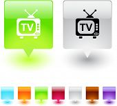 TV glossy square web buttons.