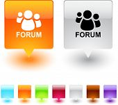 Forum glossy square web buttons.