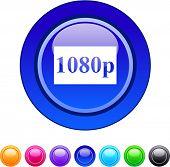 1080p glossy circle web buttons.