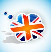 Flag of the United Kingdom. Speech bubble