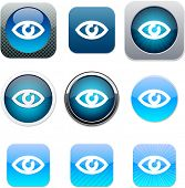 Eye Set of apps icons. Vector illustration.