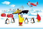 Polar expedition in Antarctica