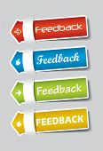 Feedback Labels colorful