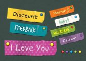 Colorful Sticker Note. vector