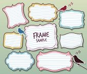 various of vector frames design