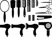 Vector hairdresser tools