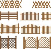 Vector wooden fences