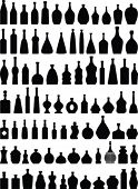 Large bottles collection-vector
