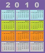 Calendar for 2010-vertical