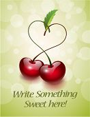 Cherries in Love Greeting Card