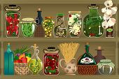 foto of oil can  - Homemade canned vegetables - JPG