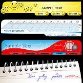 Vector illustration  of a set banners for websites