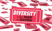 Diversity Cultural Differences Heritage Ticket Success 3d Illustration poster