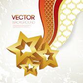 Постер, плакат: Рождественские звезды фон