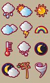 Wetter Vector Icon set