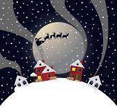 Santa's Sleigh. Christmas illustration