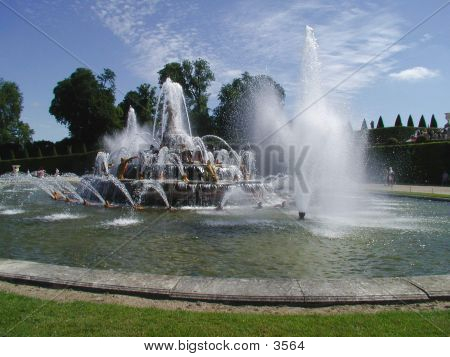 Versaille's Castle Fountains poster