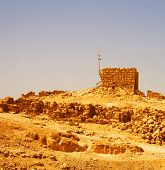 foto of zealots  - Ruins at Masada with Dead Sea in background - JPG
