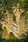 Blick auf die Pont du gard