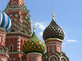 St. Basil's Cathedral at the end of Red Square in Moscow, Russia. Taken on a rare sunny day in October.