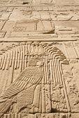 Carving Of Egyptian God On Pylon (egypt)