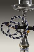 pic of shisha  - studio photography of a shisha detail in grey gradient back - JPG