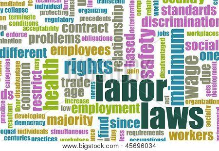 Постер, плакат: Трудовое право на рабочем месте как концепция, холст на подрамнике