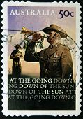 AUSTRALIA - CIRCA 2008: A stamp printed in Australia shows bugler circa 2008