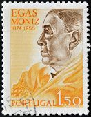 Portugal - Circa 1955: A Stamp Printed In Portugal Shows Egas Moniz, Circa 1955