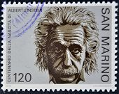 SAN MARINO - CIRCA 1979: A stamp printed in San Marino shows Albert Einstein circa 1979