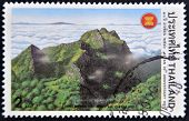 THAILAND - CIRCA 1997: A stamp printed in Thailand shows luang chiang dao mountain chang mai