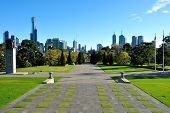 View Of Melbourne From The Shrine Of Remembrance