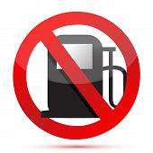 No Gasoline. No Fuel Pump Sign