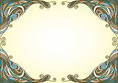 pic of twisty  - Ornamental background with twisty tracery - JPG