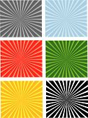Six Separated Backgrounds In Six Colors