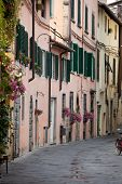 morning in the Tuscan old town. Italy