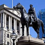 Duke Of Wellington Statue And The Bank Of England