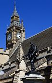 Oliver Cromwell Statue Outside The Houses Of Parliament