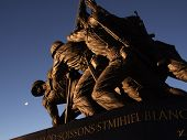"""picture of iwo  - """"Iwo Jima Memorial taken December 23 2006 Christmas in Washington D.C."""" - JPG"""