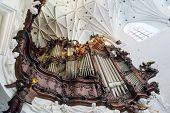 GDANSK, POLAND - MAY 6, 2013: Great organ of Oliwa Archcathedral on 6 May 2013. Great Oliwa organ co